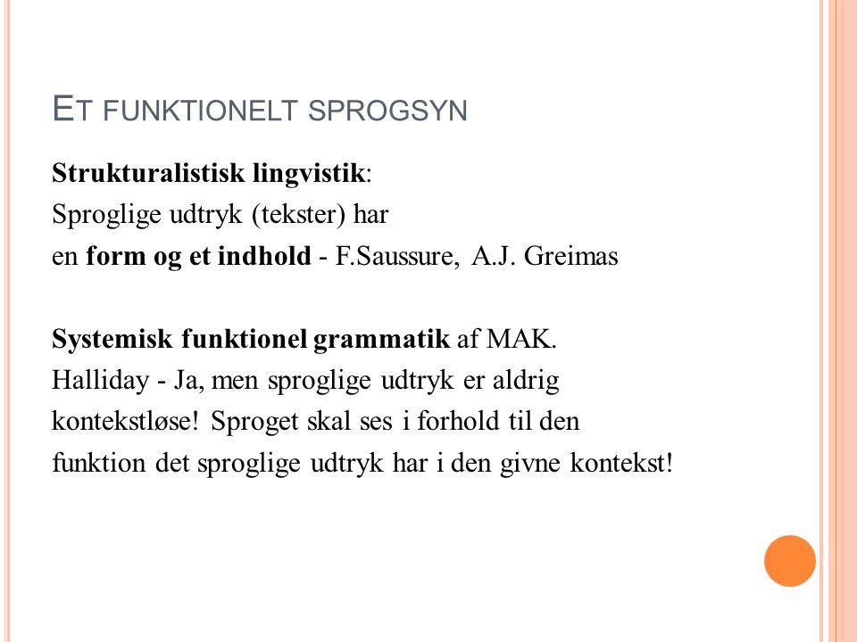 Et funktionelt sprogsyn