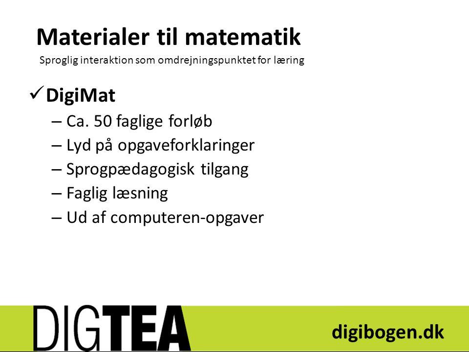 Materialer til matematik