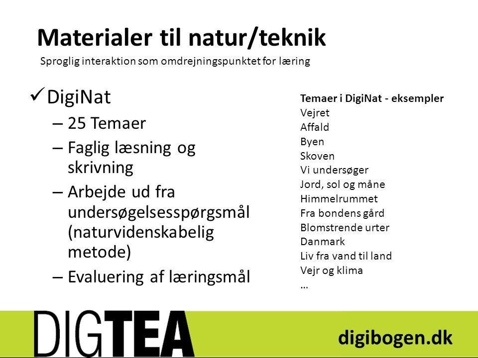 Materialer til natur/teknik