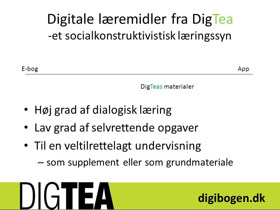 Digitale læremidler fra DigTea -et socialkonstruktivistisk læringssyn