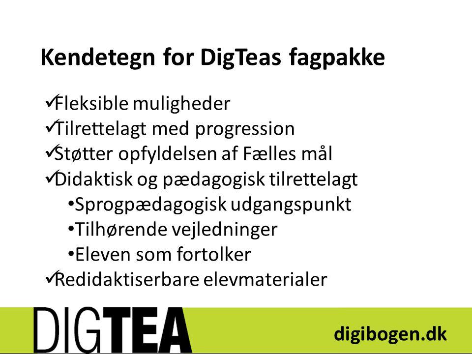 Kendetegn for DigTeas fagpakke