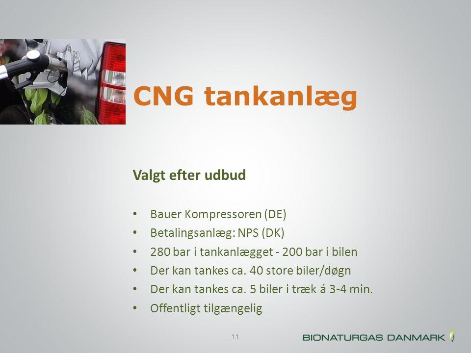 CNG tankanlæg Valgt efter udbud Bauer Kompressoren (DE)