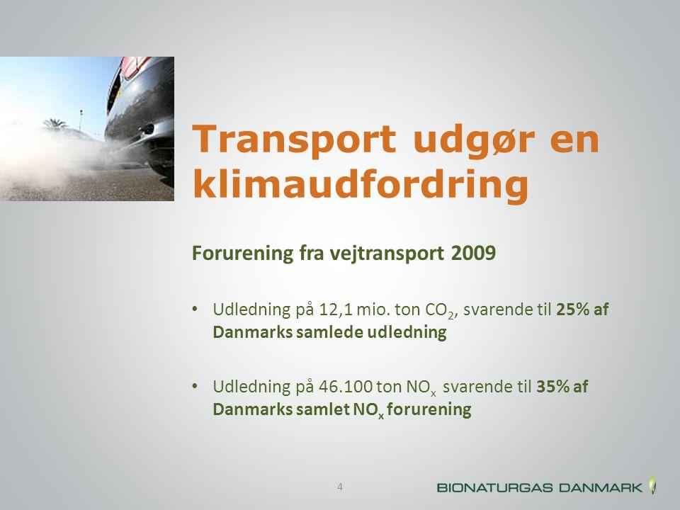 Transport udgør en klimaudfordring