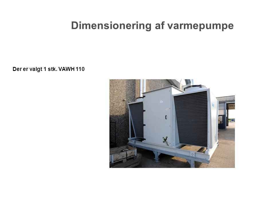 Dimensionering af varmepumpe
