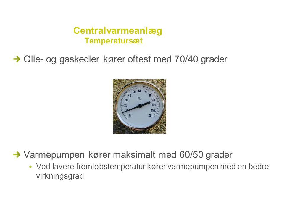 Centralvarmeanlæg Temperatursæt