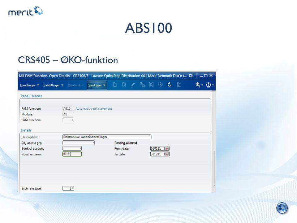 ABS100 CRS405 – ØKO-funktion
