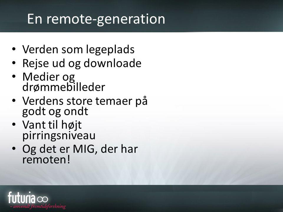 En remote-generation Verden som legeplads Rejse ud og downloade