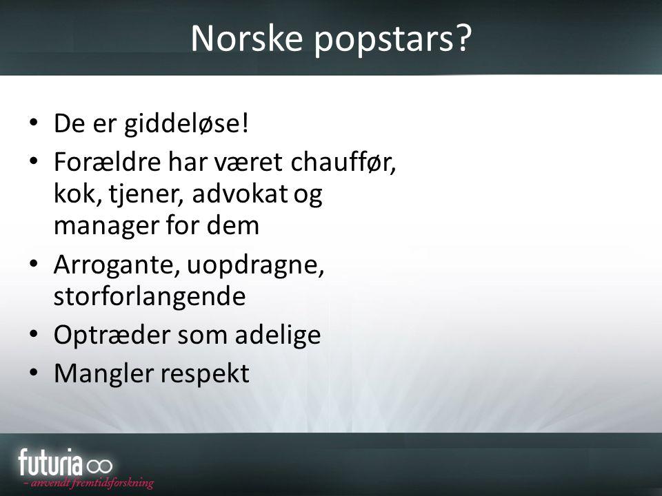 Norske popstars De er giddeløse!