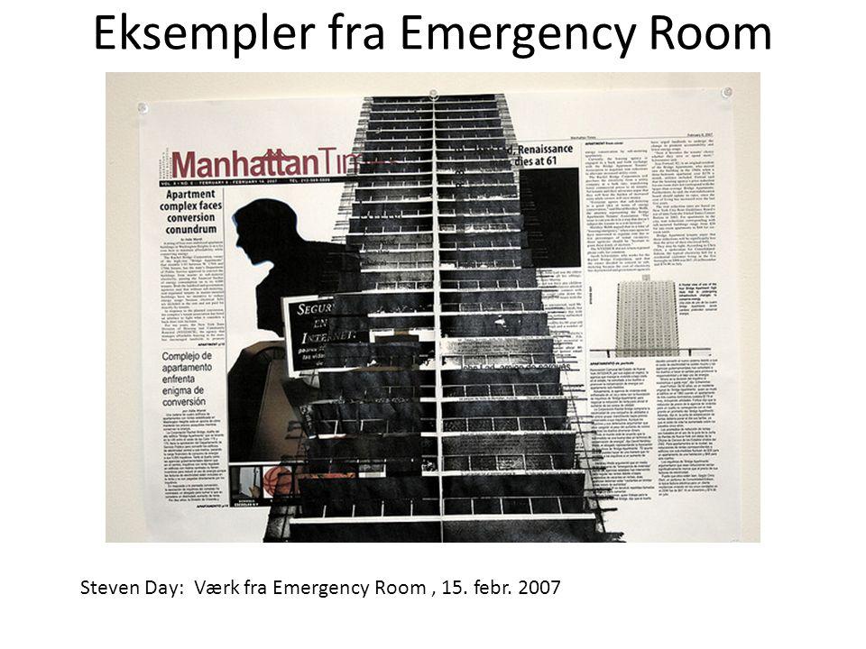 Eksempler fra Emergency Room