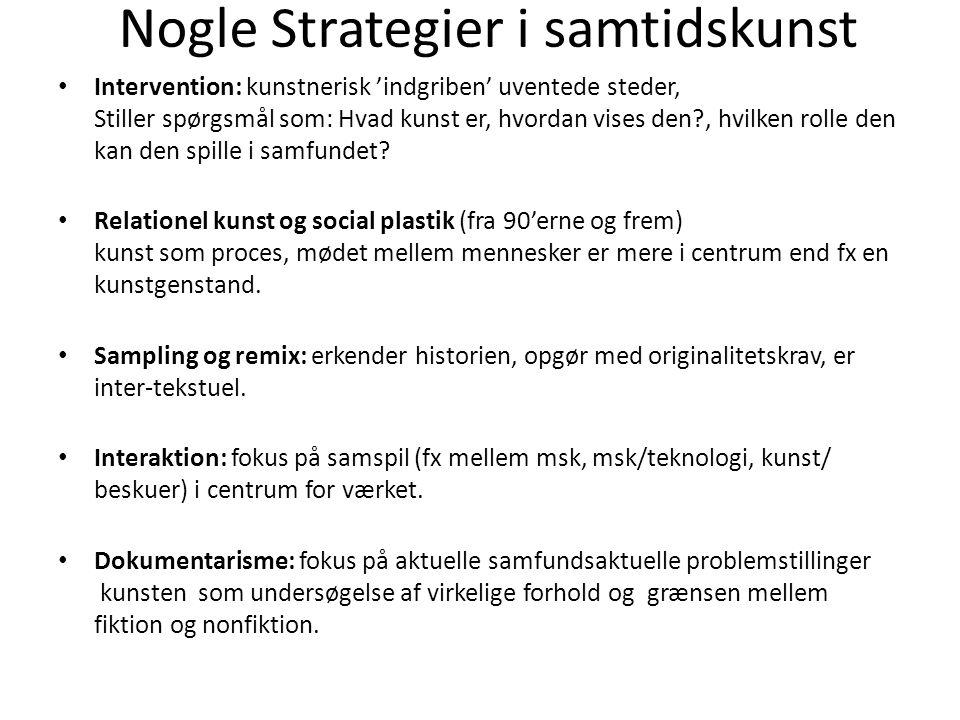 Nogle Strategier i samtidskunst