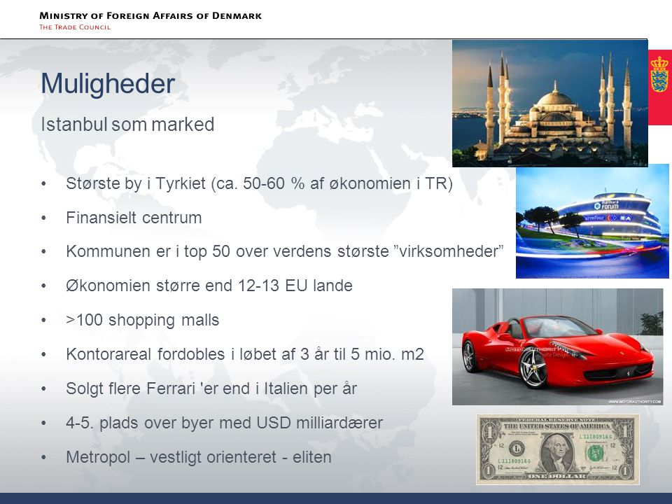 Muligheder Istanbul som marked