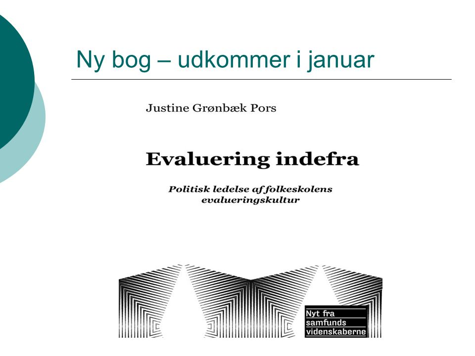 Ny bog – udkommer i januar