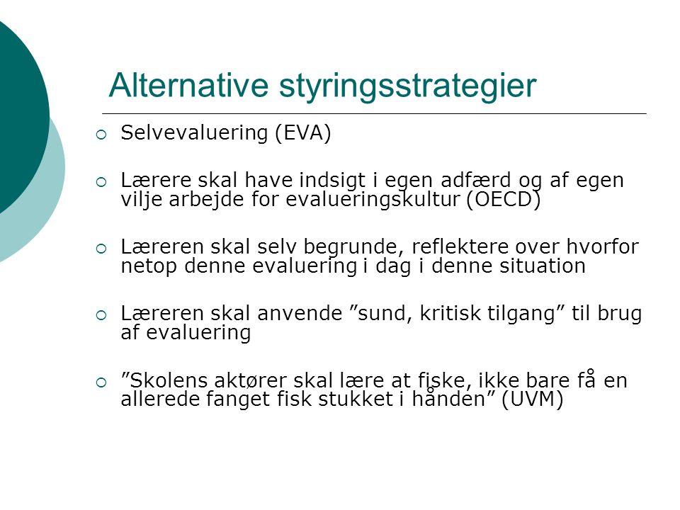 Alternative styringsstrategier
