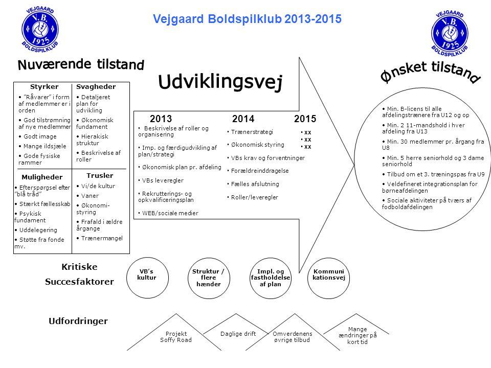 Vejgaard Boldspilklub 2013-2015