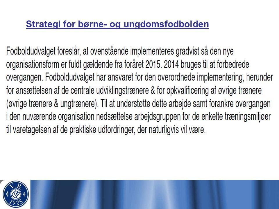 Strategi for børne- og ungdomsfodbolden