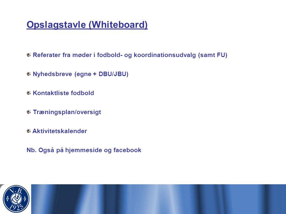 Opslagstavle (Whiteboard)