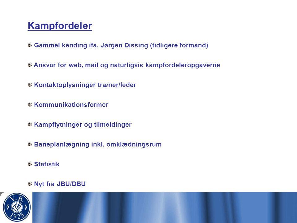 Kampfordeler Gammel kending ifa. Jørgen Dissing (tidligere formand)