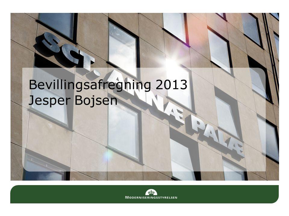 Bevillingsafregning 2013 Jesper Bojsen