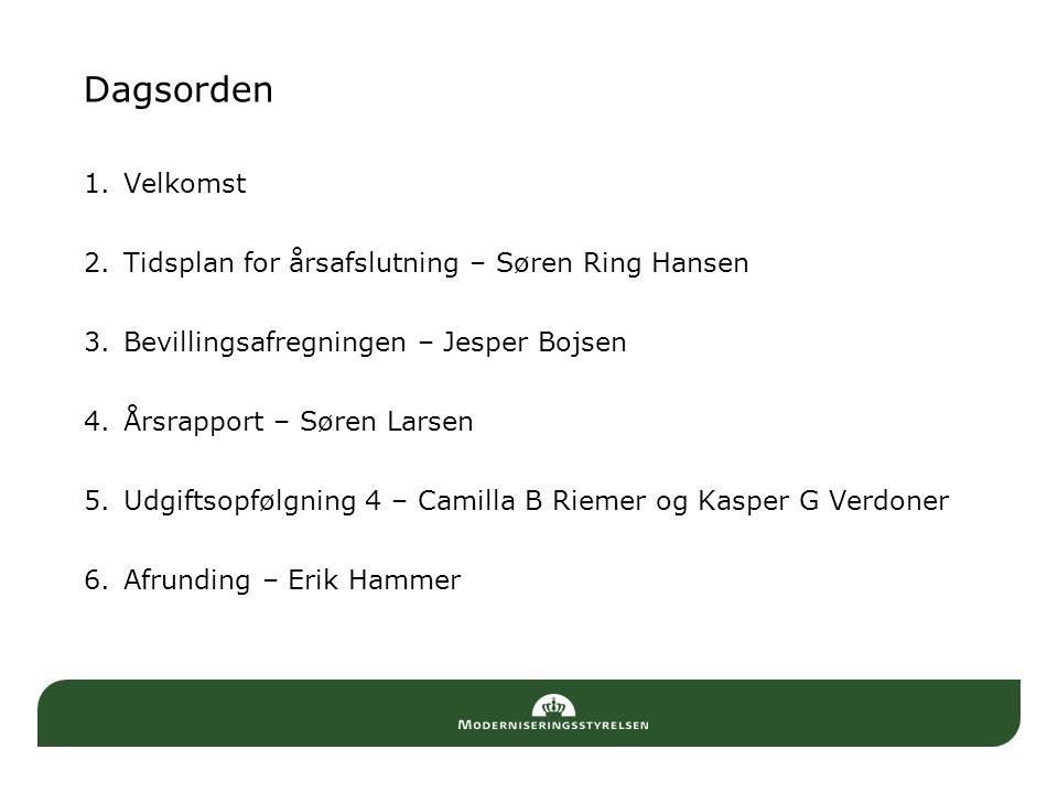 Dagsorden Velkomst Tidsplan for årsafslutning – Søren Ring Hansen