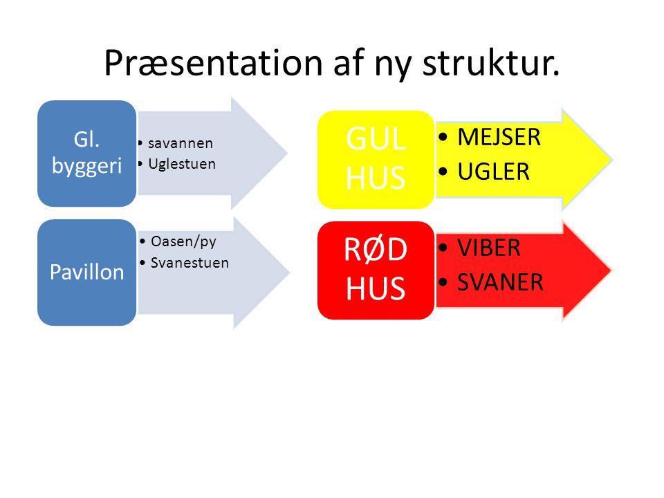 Præsentation af ny struktur.