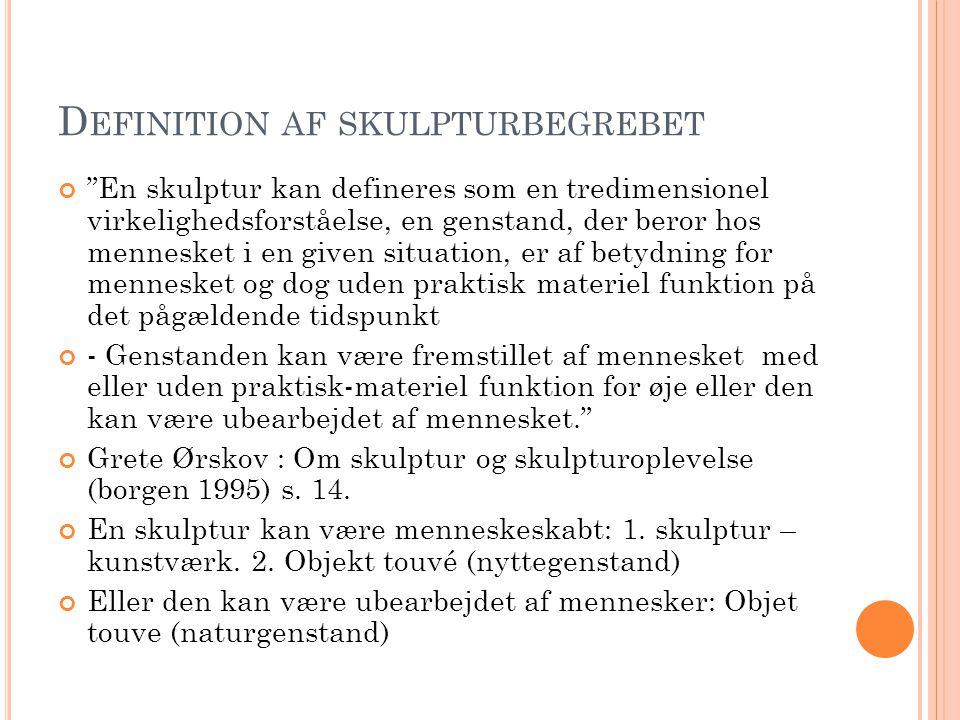 Definition af skulpturbegrebet