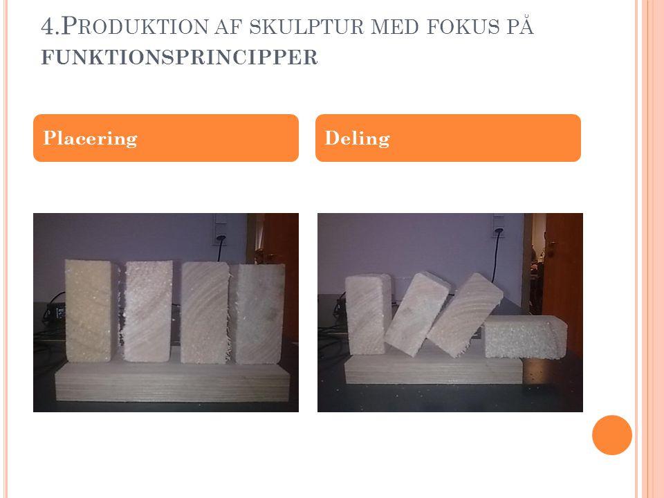 4.Produktion af skulptur med fokus på funktionsprincipper
