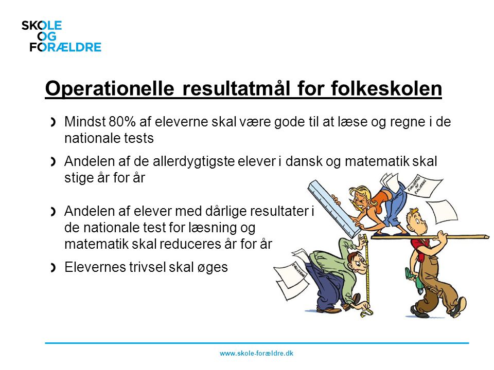 Operationelle resultatmål for folkeskolen