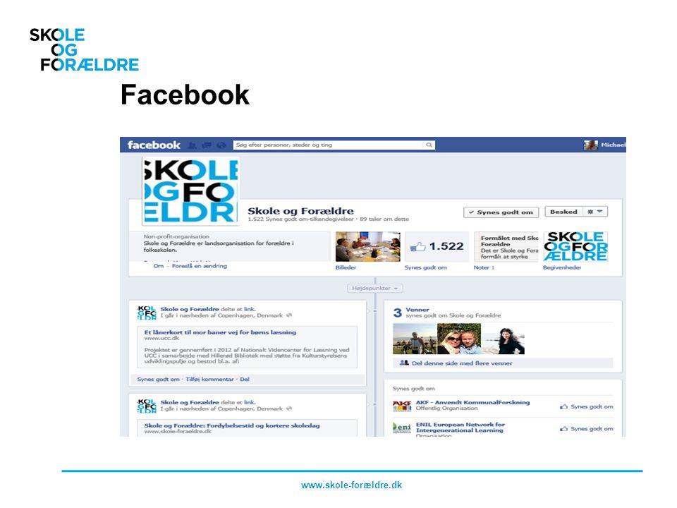 Facebook www.skole-forældre.dk