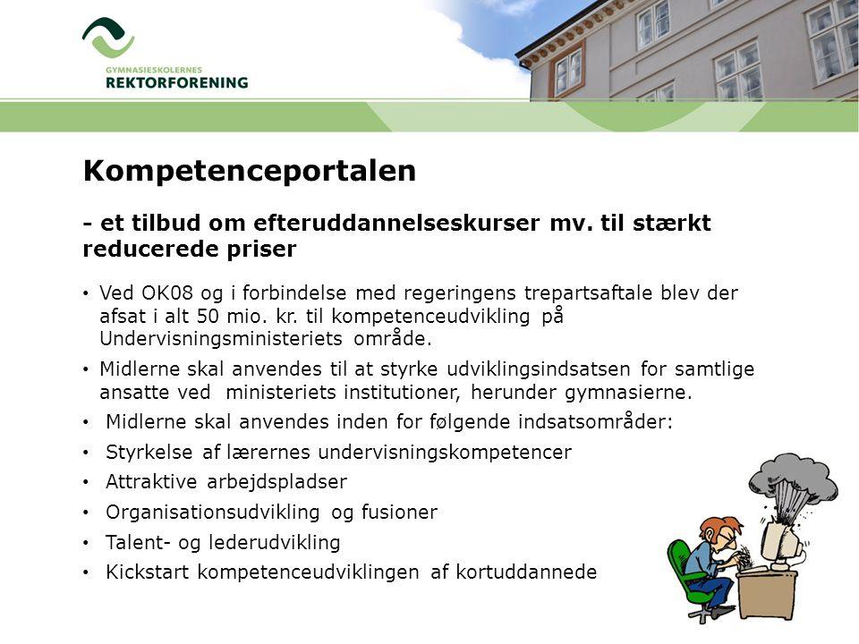 Kompetenceportalen - et tilbud om efteruddannelseskurser mv. til stærkt reducerede priser.