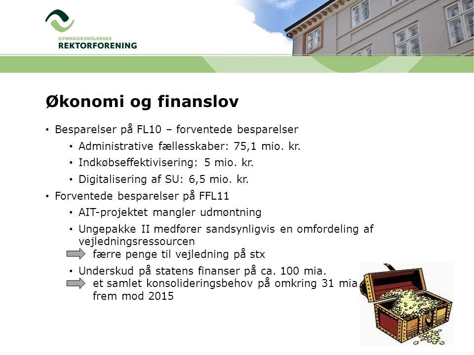 Økonomi og finanslov Besparelser på FL10 – forventede besparelser