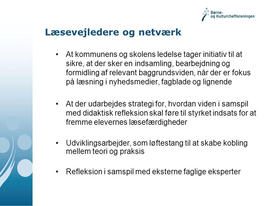 Læsevejledere og netværk