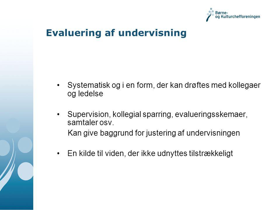 Evaluering af undervisning