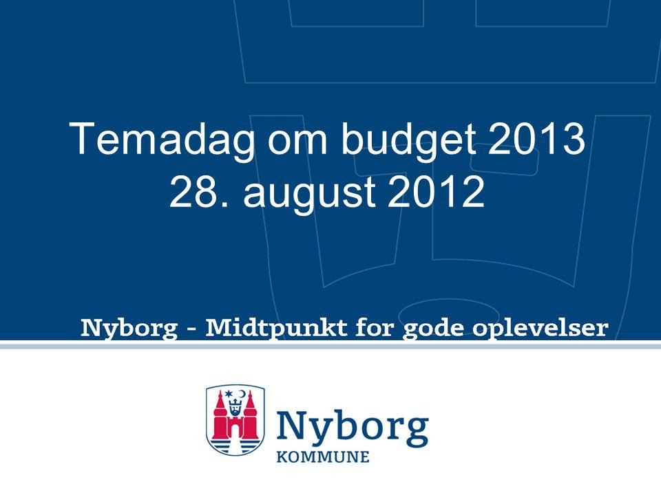 Temadag om budget 2013 28. august 2012