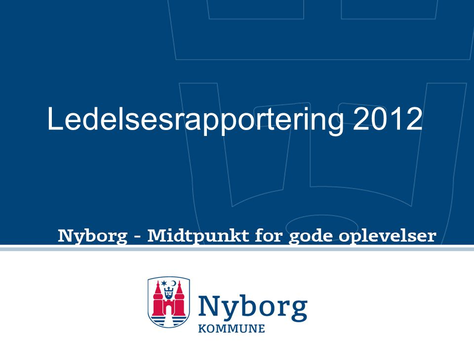 Ledelsesrapportering 2012