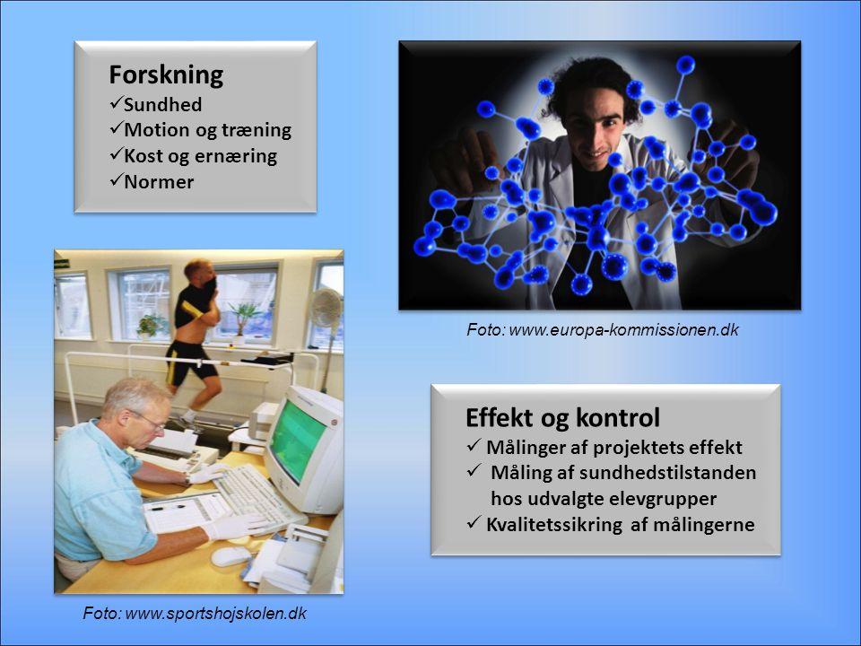 Forskning Effekt og kontrol Sundhed Motion og træning Kost og ernæring