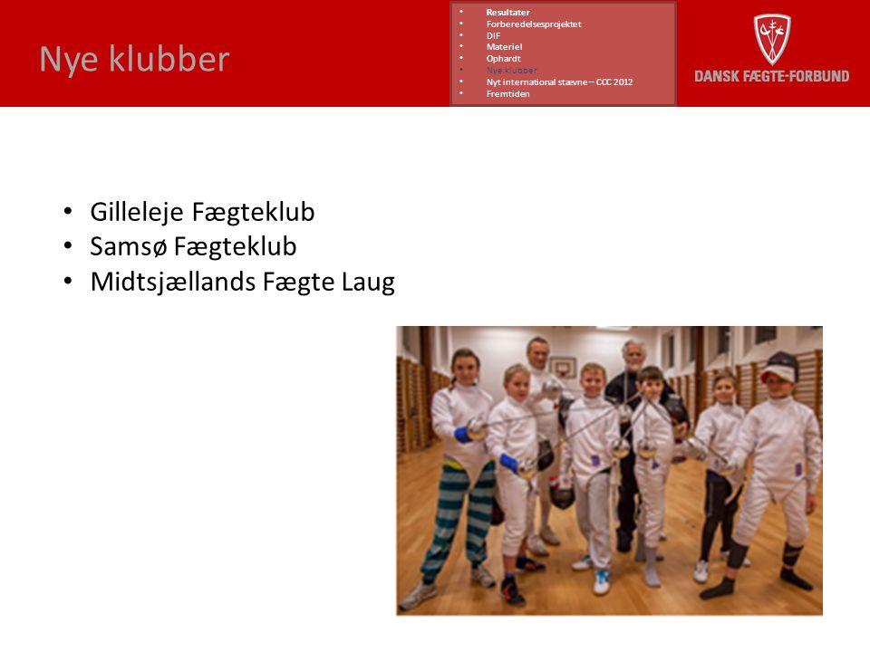 Nye klubber Gilleleje Fægteklub Samsø Fægteklub
