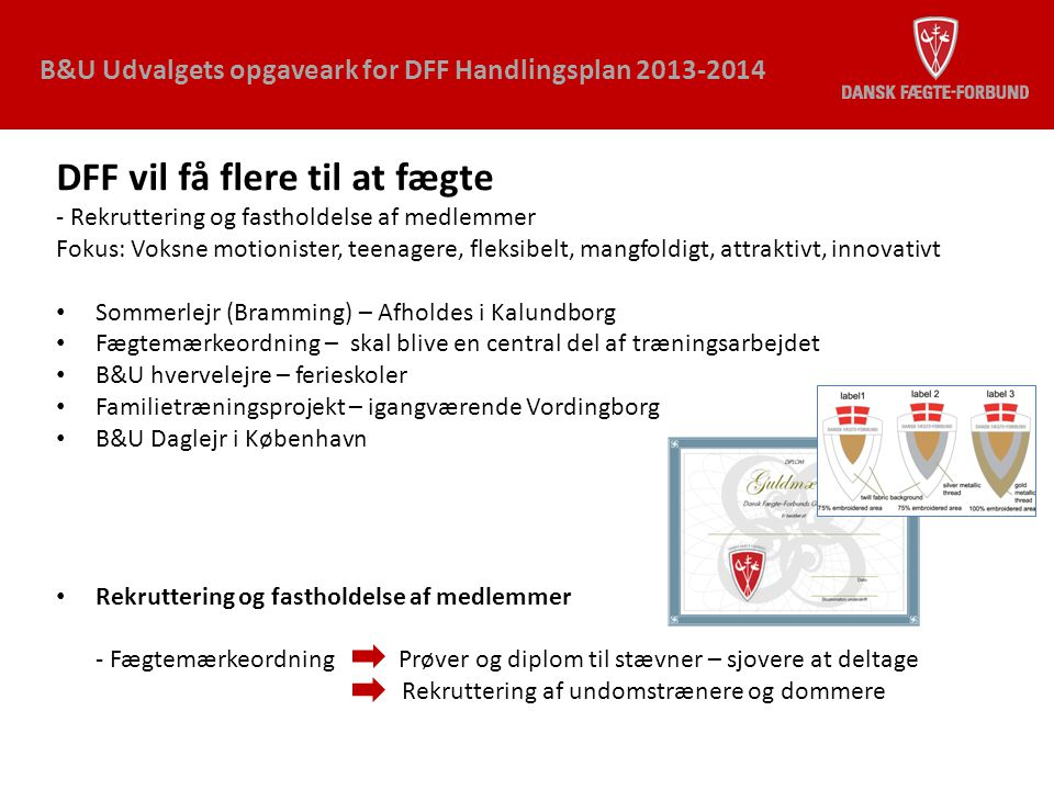 DFF vil få flere til at fægte