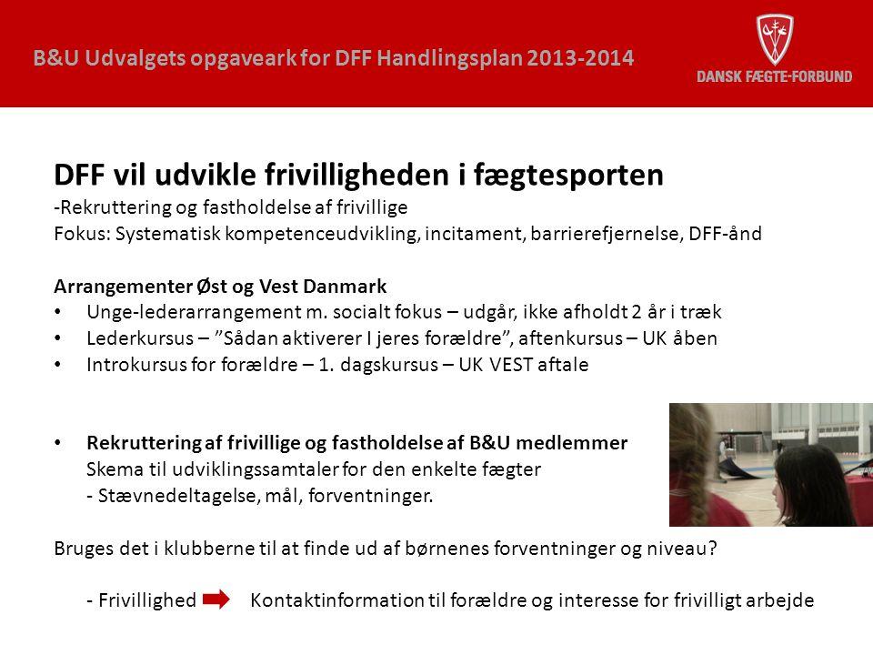 DFF vil udvikle frivilligheden i fægtesporten