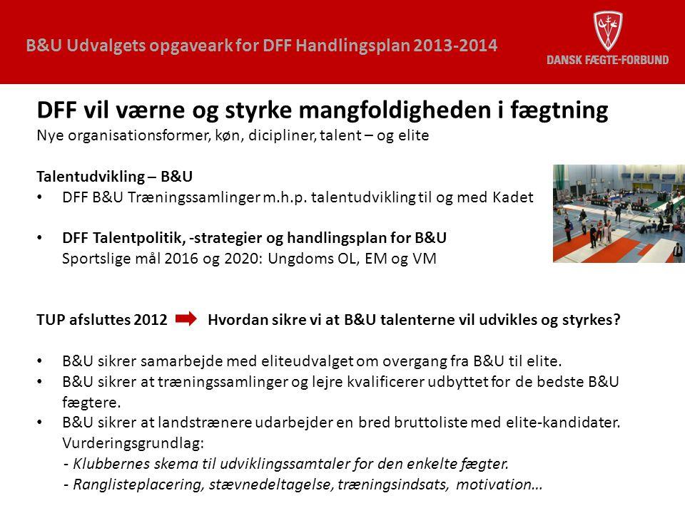 DFF vil værne og styrke mangfoldigheden i fægtning