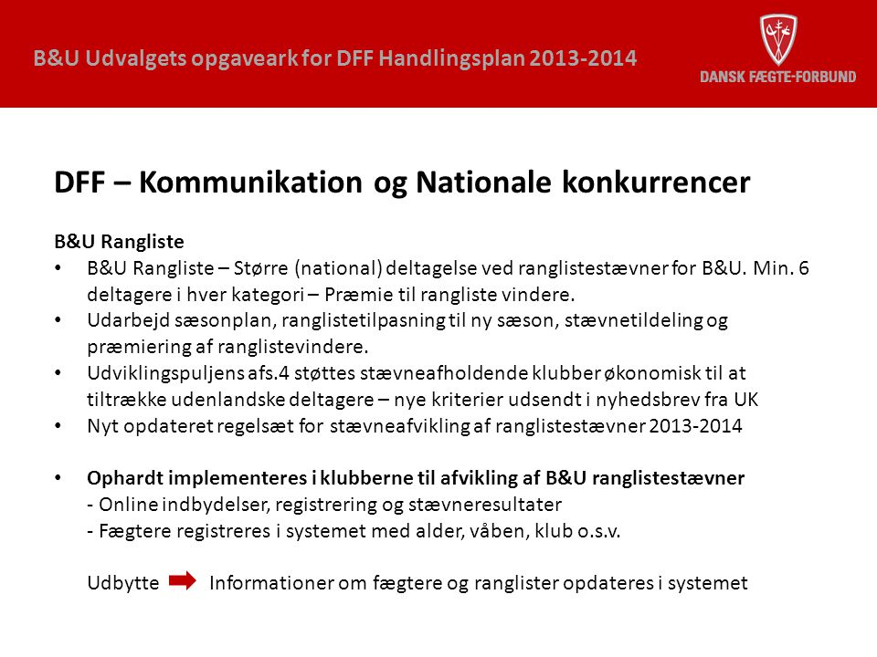 DFF – Kommunikation og Nationale konkurrencer