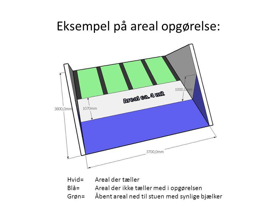Eksempel på areal opgørelse: