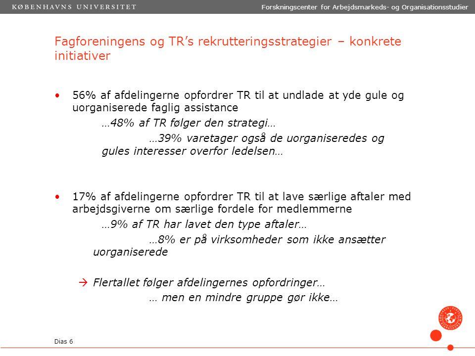 Fagforeningens og TR's rekrutteringsstrategier – konkrete initiativer