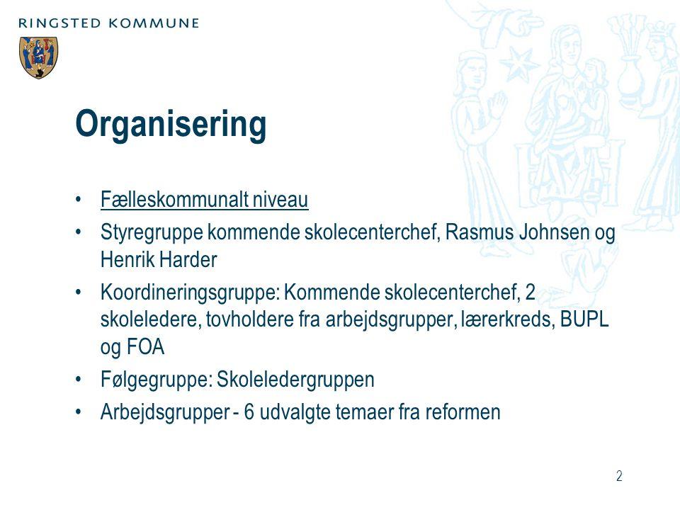 Organisering Fælleskommunalt niveau