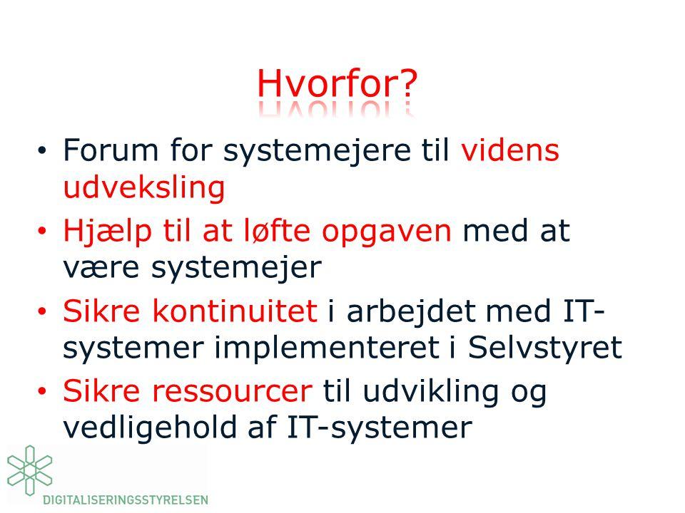Hvorfor Forum for systemejere til videns udveksling