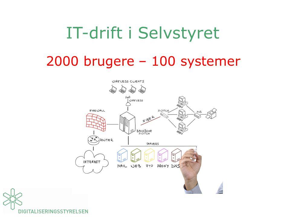 IT-drift i Selvstyret 2000 brugere – 100 systemer