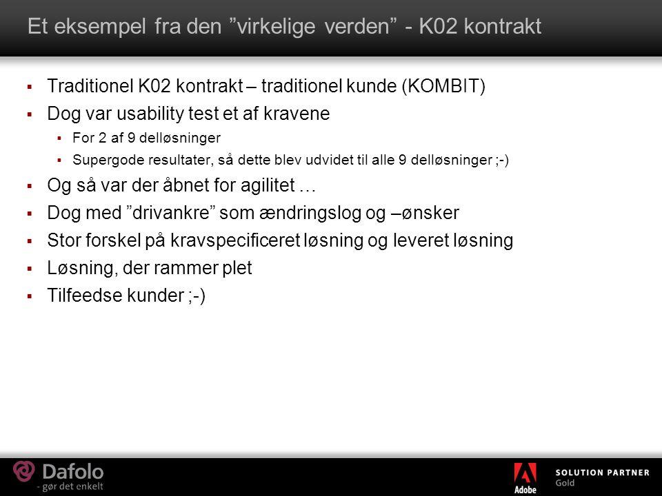 Et eksempel fra den virkelige verden - K02 kontrakt