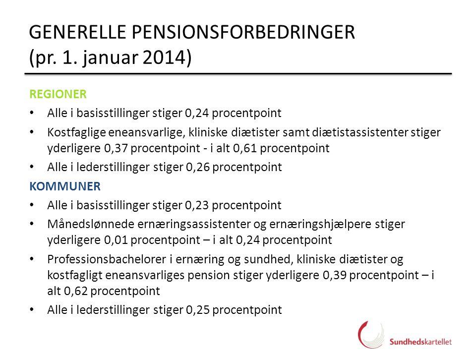 GENERELLE PENSIONSFORBEDRINGER (pr. 1. januar 2014)