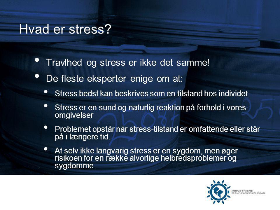 Hvad er stress Travlhed og stress er ikke det samme!