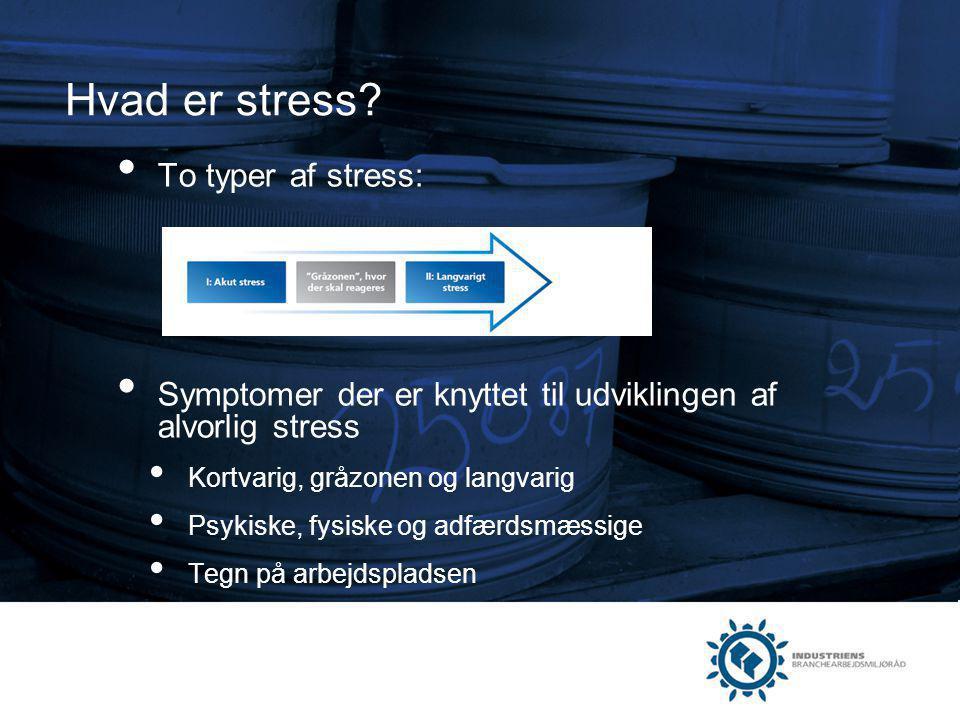 Hvad er stress To typer af stress:
