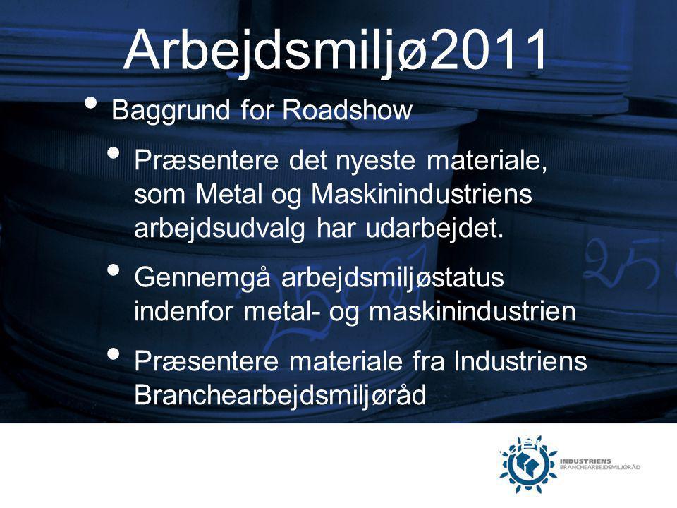 Arbejdsmiljø2011 Baggrund for Roadshow